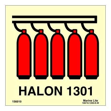 HALON 1301 BATTERY  (15x15cm) Phot.Vin. IMO sign 156010