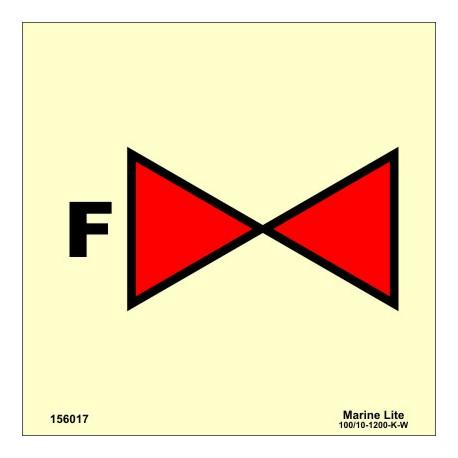 FOAM VALVE  (15x15cm) Phot.Vin. IMO sign 156017