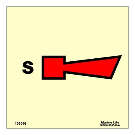 SPRINKLER HORN  (15x15cm) Phot.Vin. IMO sign 156046
