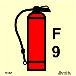 FOAM FIRE EXTINGUISHER 9LT  (15x15cm) Phot.Vin. IMO sign 156091