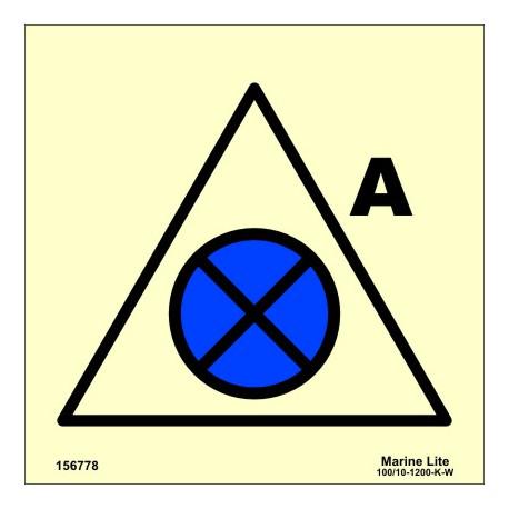 REMOTE VENTILATION OR SHUT-OFF FOR ACCOMODATION  (15x15cm) Phot.Vin. IMO sign 156778