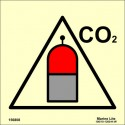 REMOTE CO2 RELEASE STATION  (15x15cm) Phot.Vin. IMO sign 156808
