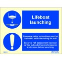 LIFEBOAT LAUNCHING   (15x20cm) Phot.Vin. IMO sign 195112