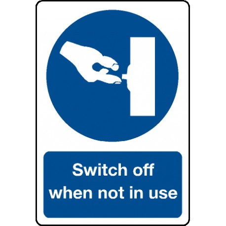 SWITCH OFF WHEN NOT IN USE   (15x20cm) Phot.Vin. IMO sign 195116