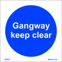 GANGWAY KEEP CLEAR  (15x15cm) Phot.Vin. IMO sign 195812