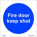 FIRE DOOR KEEP SHUT  (15x15cm) Phot.Vin. IMO sign 195814