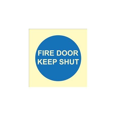 FIRE DOOR KEEP SHUT   (15x20cm) Phot.Vin. IMO sign 195837