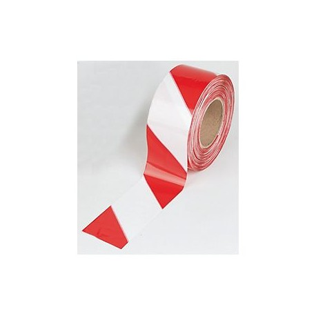 Red White Not Adhesive Barrier tape  (8cmx200m) Ref. 750309