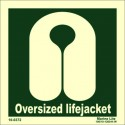 LIFEJACKET OVERSIZED  (15x15cm) Phot.Vin. IMO sign 100372