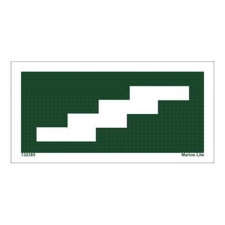 STAIRS UP RIGHT  (7,5x15cm) IMO sign 132385TV