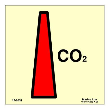 CO2 NOZZLE  (15x15cm) Phot.Vin. IMO sign 150051