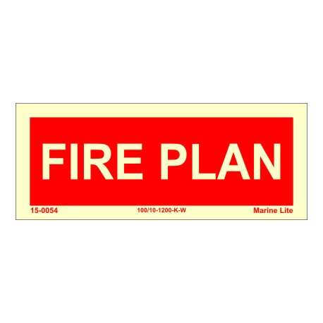 FIRE PLAN  (6x15cm) Phot.Vin. IMO sign 150054