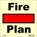 FIRE CONTROL PLAN  (15x15cm) Phot.Vin. IMO sign 156796/6001