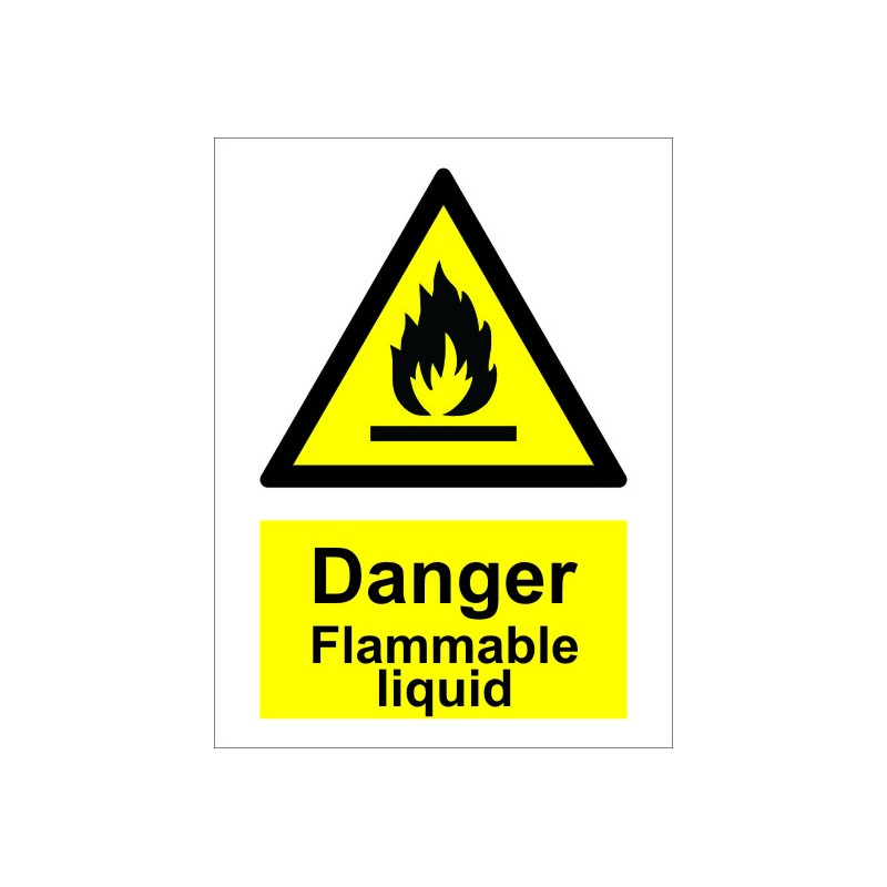 Flammable Liquid 20x15cm White Vin Imo Sign 187631wv