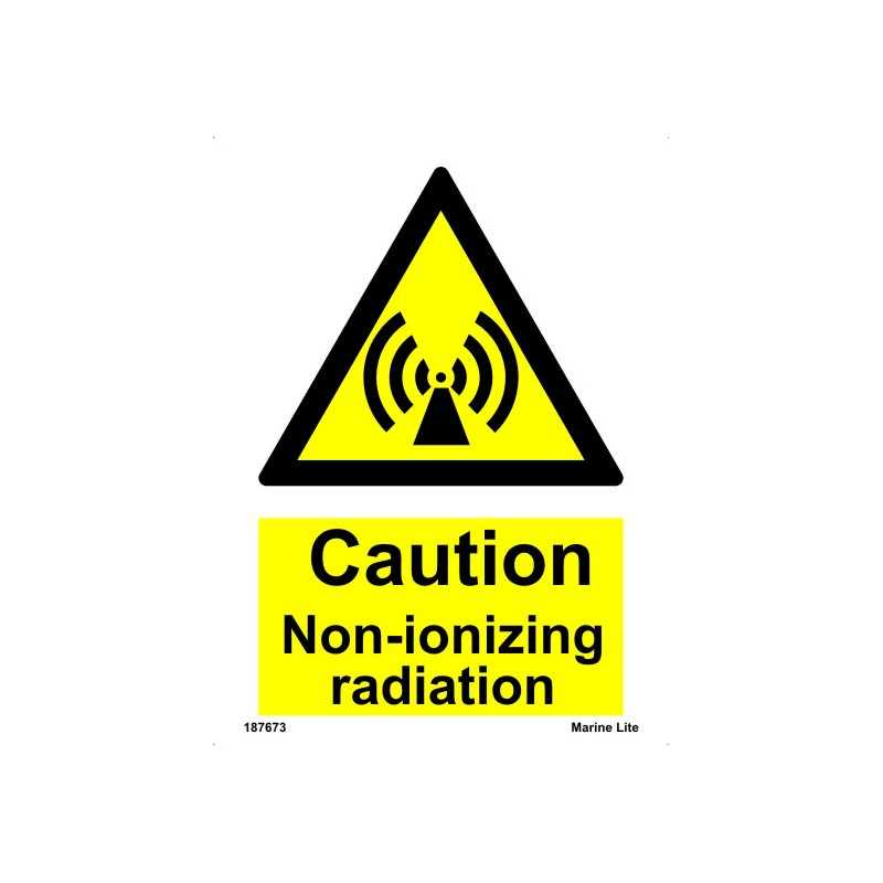 Non Ionizing Radiation 20x15cm White Vin Imo Sign 187673wv