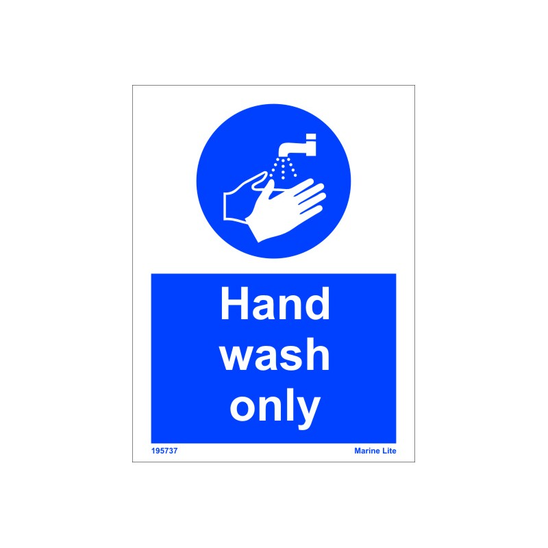 Hand Wash Only 15x20cm White Vin Imo Sign 195737wv Imostickers