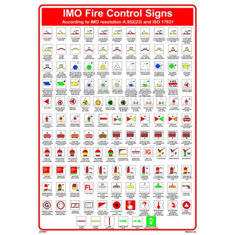 P 243 Ster Imo Fire Control Signs Imo A 952 45x32cm White