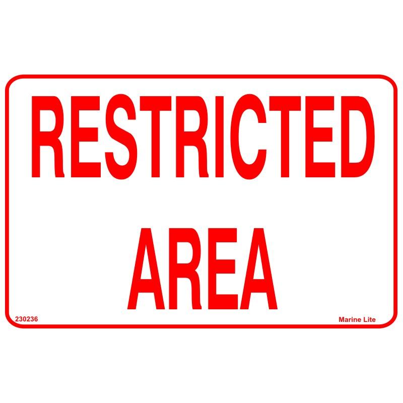 Restricted Area 20x25cm White Vin Imo Symbol 230236wv