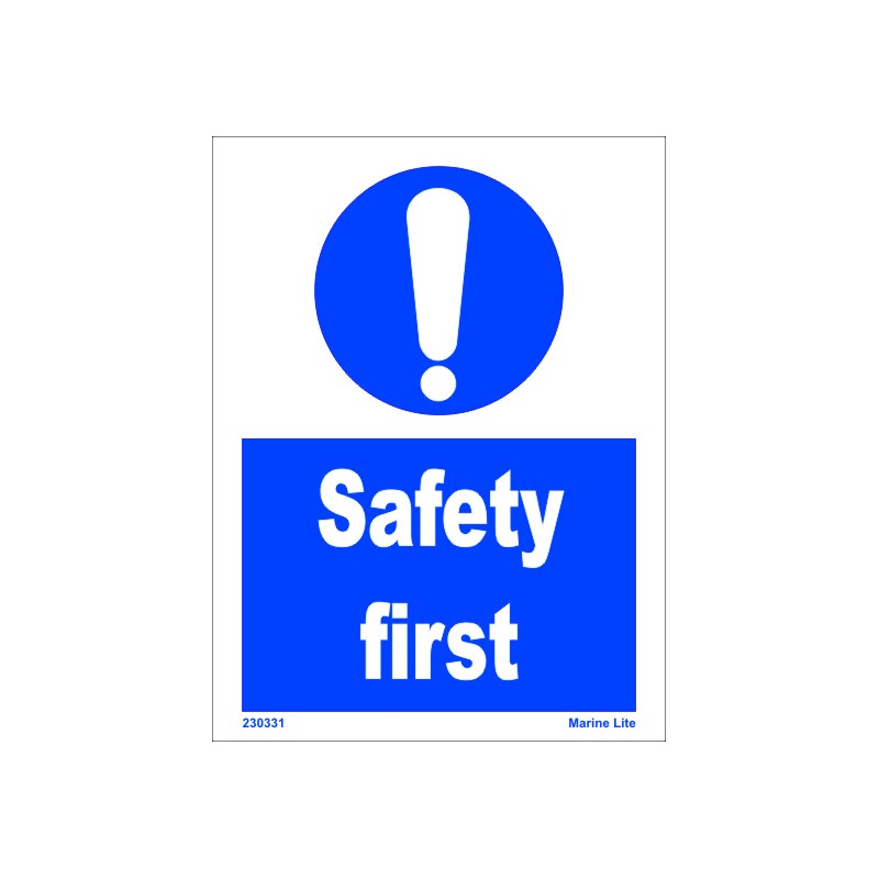Safety First 15x20cm White Vin Imo Symbol 230331wv Imostickers