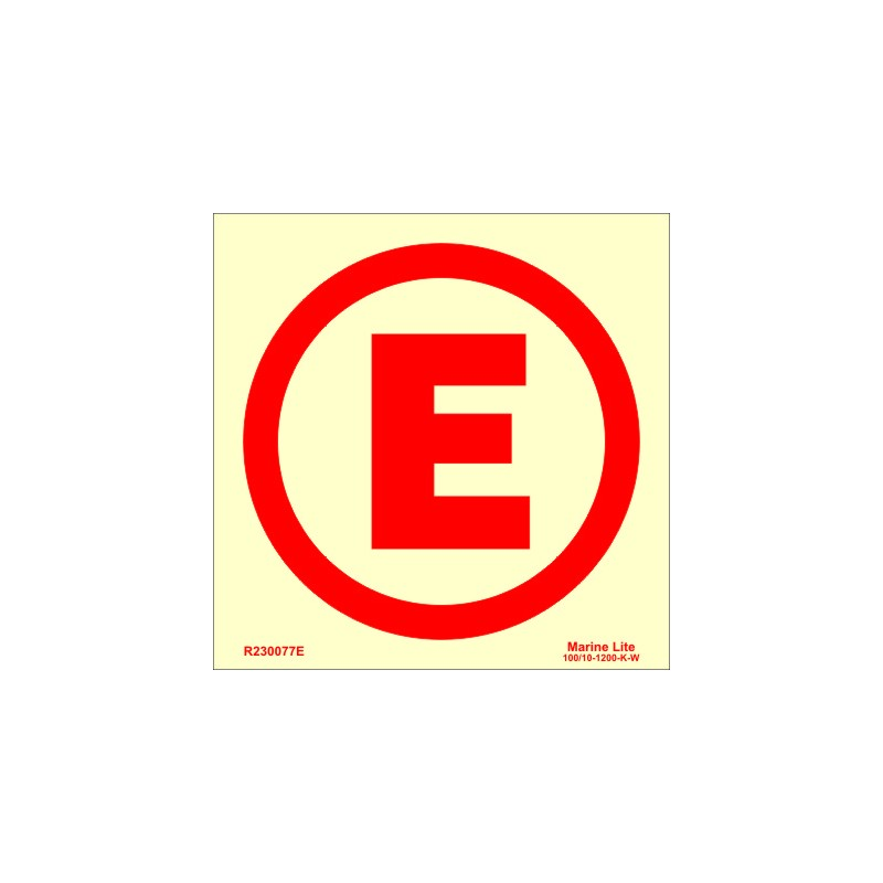 Emergency Lights E 15x15cm Photn Imo Symbol R230077e
