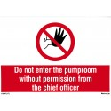 DO NOT ENTER PUMP ROOM  (20x30cm) Phot.Vin. IMO sign 178547