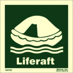 LIFERAFT  (30x30cm)  IMO sign 10410220