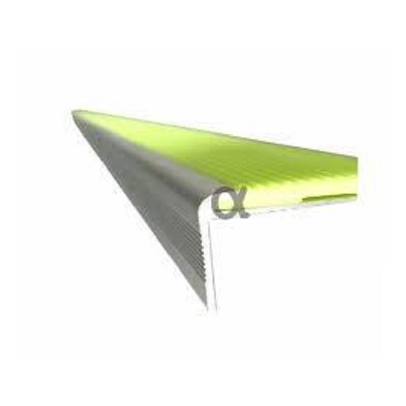 Perfil escalera aluminio anodizado acabado plata - Perfil aluminio anodizado ...