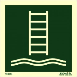 EMBARKATION LADDER  (15x15cm) Phot.Vin. IMO sign 104054 / LSS018