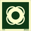 LIFEBUOY WITHOUT TEXT (15x15cm) Phot.Vin. IMO sign 104056