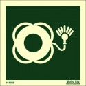 LIFEBUOY WITH LIGHT WITHOUT TEXT  (15x15cm) Phot.Vin. IMO sign 104058