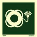 Señal IMO ARO SALVAVIDAS CON LUZ SIN TEXTO (15x15cm) vinilo fotoluminiscente 104058 / LSS007