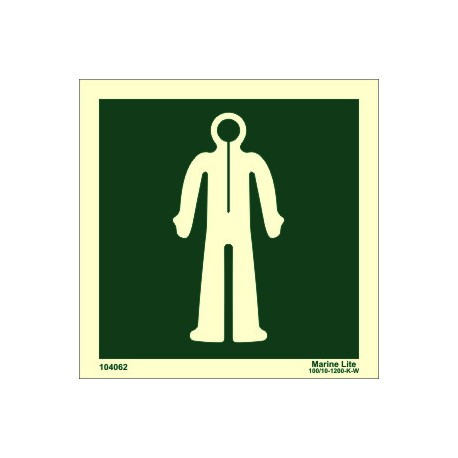 IMMERSION SUIT  (15x15cm) Phot.Vin. IMO sign 104062 / LSS021