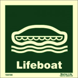 LIFEBOAT  (15x15cm) Phot.Vin. IMO sign 104100 / LSS001