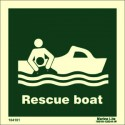 RESCUE BOAT  (15x15cm) Phot.Vin. IMO sign 104101 / LSS002