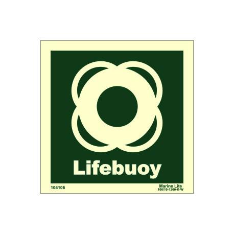 LIFEBUOY  (15x15cm) Phot.Vin. IMO sign 104106 / LSS005