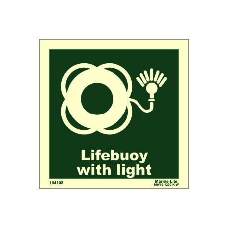 Señal IMO ARO SALVAVIDAS CON LUZ (15x15cm) vinilo fotoluminiscente 104108 / LSS007
