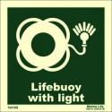 LIFEBUOY WITH LIGHT  (15x15cm) Phot.Vin. IMO sign 104108 / LSS007