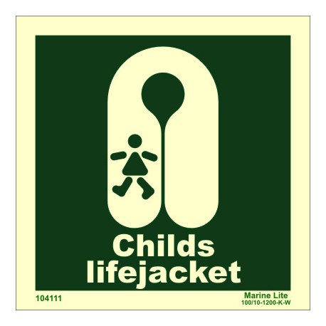 CHILD`S LIFEJACKET  (15x15cm) Phot.Vin. IMO sign 104111