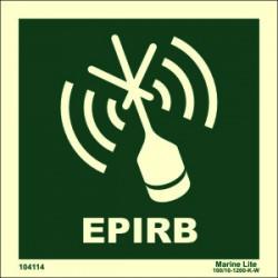 EPIRB  (15x15cm) Phot.Vin. IMO sign 104114