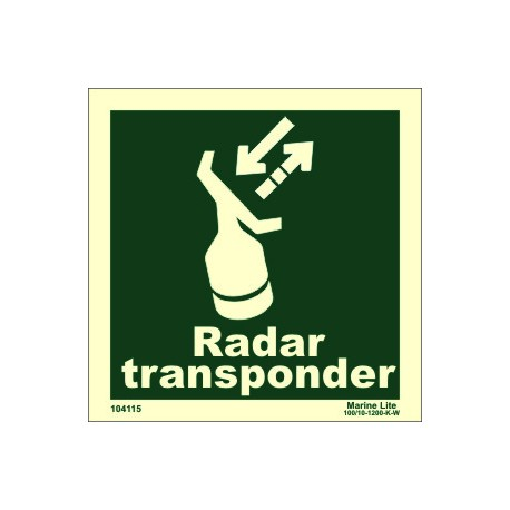 S.A.R.T. RADAR TRANSPONDER  (15x15cm) Phot.Vin. IMO sign 104115 / LSS012