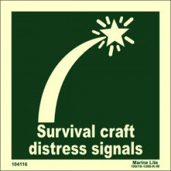 SURV. CRAFT DIST. SIGNAL  (15x15cm) Phot.Vin. IMO sign 104116