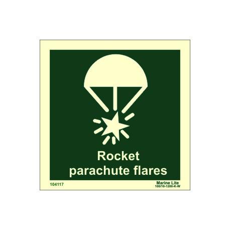 ROCKET PARACHUTE  (15x15cm) Phot.Vin. IMO sign 104117