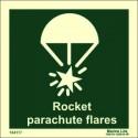 ROCKET PARACHUTE  (15x15cm) Phot.Vin. IMO sign 104117 / LSS014