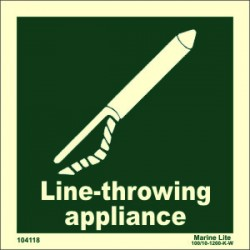 LINE THROWING APPL  (15x15cm) Phot.Vin. IMO sign 104118 / LSS015
