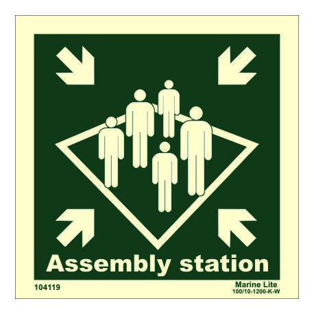 ASSEMBLY STATION  (15x15cm) Phot.Vin. IMO sign 104119 / MES001