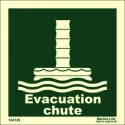 EVACUATION CHUTE  (15x15cm) Phot.Vin. IMO sign 104120 / LSS020