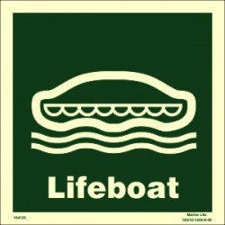 LIFEBOAT  (30x30cm) Phot.Vin. IMO sign 104123 / LSS001