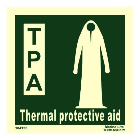 Señal IMO TRAJE DE PROTECCIÓN TÉRMICA (15x15cm) vinilo fotoluminiscente 104125