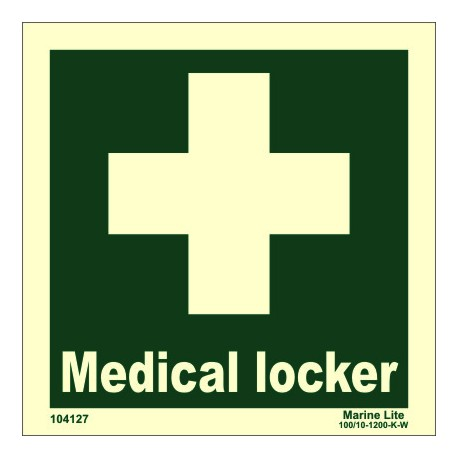 MEDICAL LOCKER  (15x15cm) Phot.Vin. IMO sign 104127 / EES001