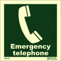 EMERGENCY TELEPHONE  (15x15cm) Phot.Vin. IMO sign 104131 / EES002